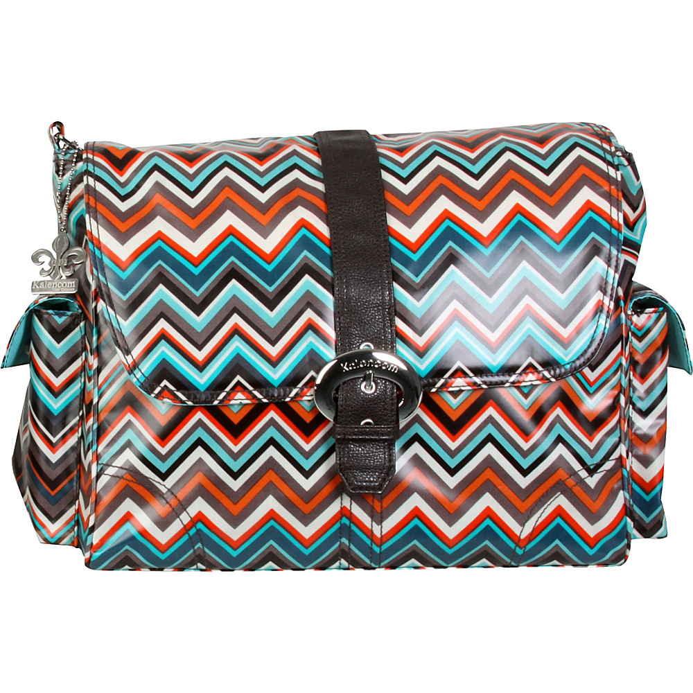 Kalencom Matte Coated Buckle Bag Safari Zig Zag Kalencom Diaper Bags Accessories