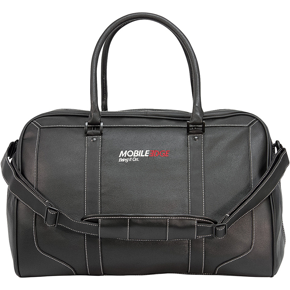 Mobile Edge Deluxe Leather Duffel Black