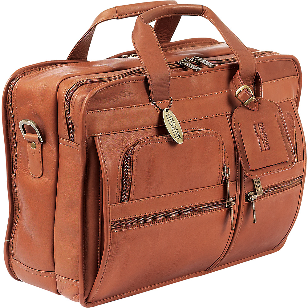 ClaireChase Executive Briefcase - Saddle - Work Bags & Briefcases, Non-Wheeled Business Cases