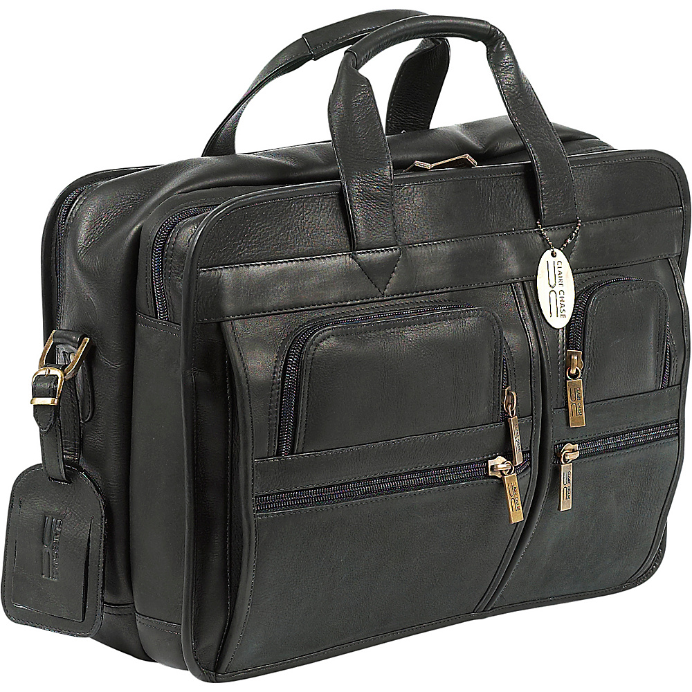 ClaireChase Executive Briefcase - Black - Work Bags & Briefcases, Non-Wheeled Business Cases