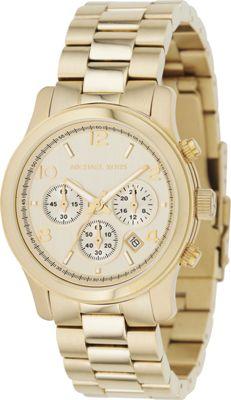 Michael Kors Watches Gold Chronograph Runway - Gold