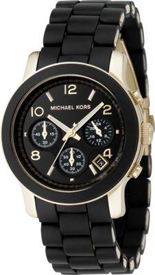 Michael Kors Watches Black PU Runway - Black