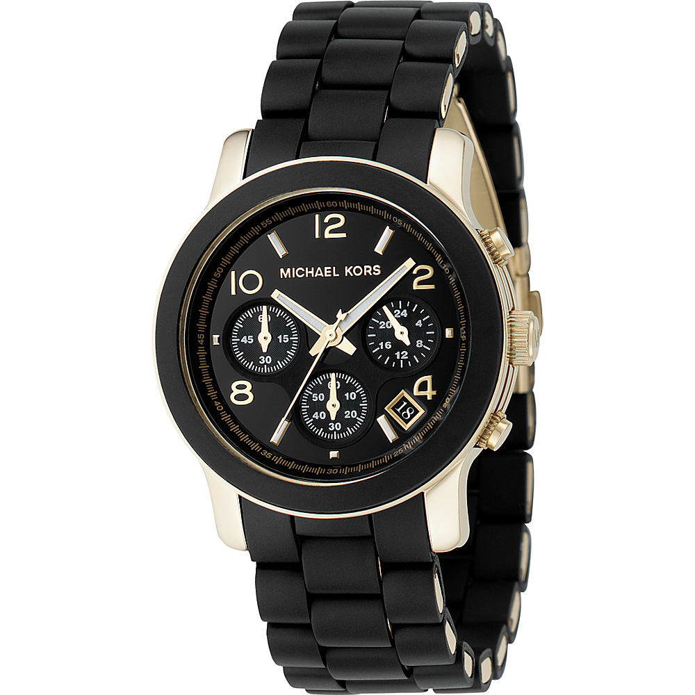 Michael Kors Watches Black PU Runway Black