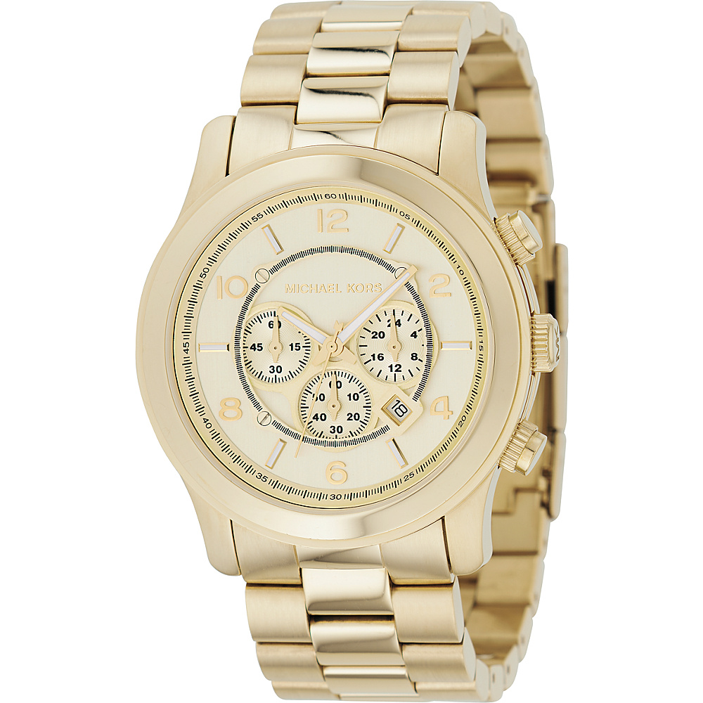 Michael Kors Watches Oversized Gold Runway Gold