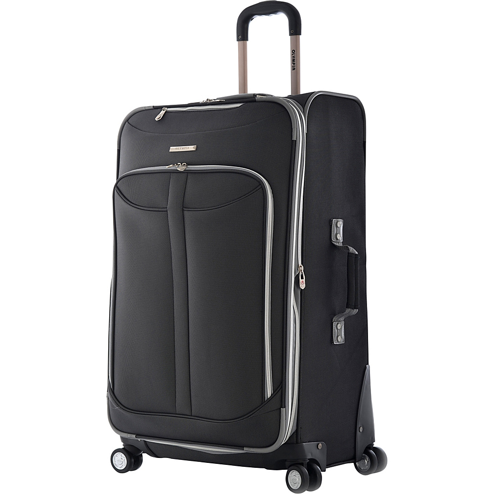 Olympia USA Tuscany 30 Exp. Super Rolling Upright Black - Olympia USA Softside Checked - Luggage, Softside Checked