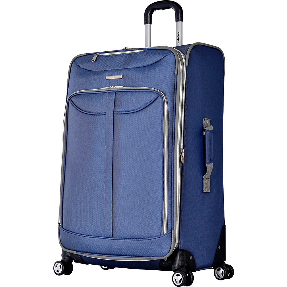 "Olympia Tuscany 30"" Exp. Super Rolling Upright Blue - Olympia Softside Checked"