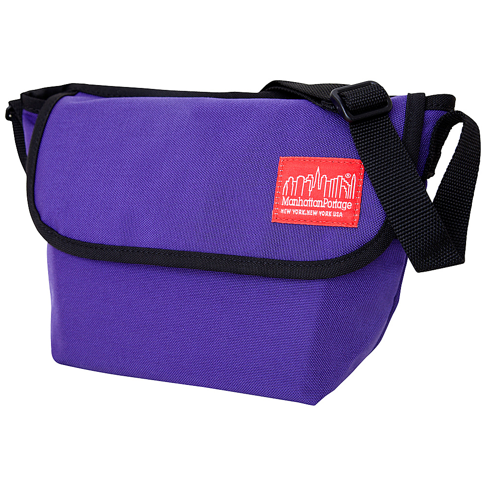 Manhattan Portage Nylon Messenger Bag (Small) Purple - Manhattan Portage Messenger Bags