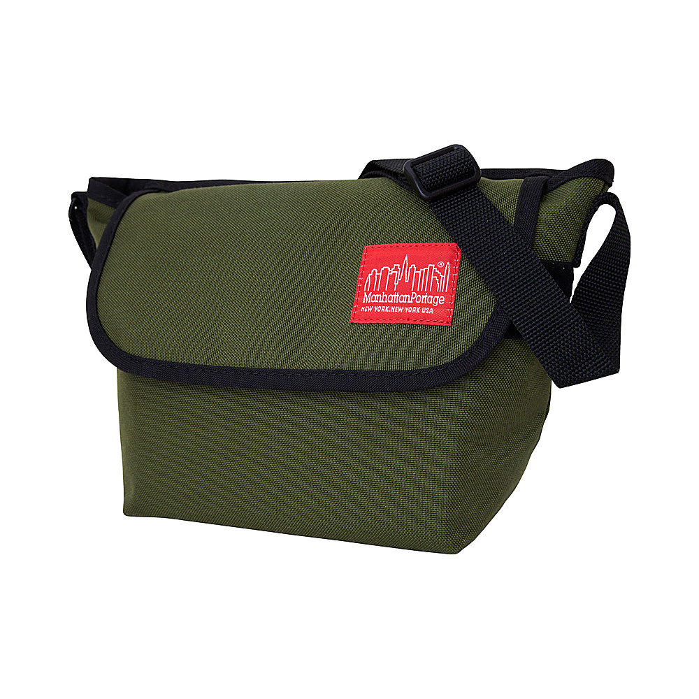 Manhattan Portage Nylon Messenger Bag (Small) Olive - Manhattan Portage Messenger Bags - Work Bags & Briefcases, Messenger Bags