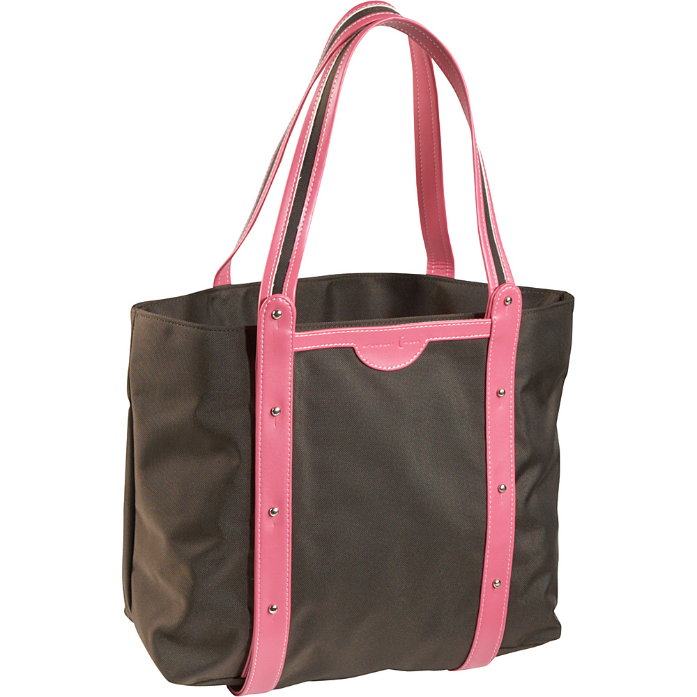 Crescent Moon Convertible Yoga Tote Brown Pink