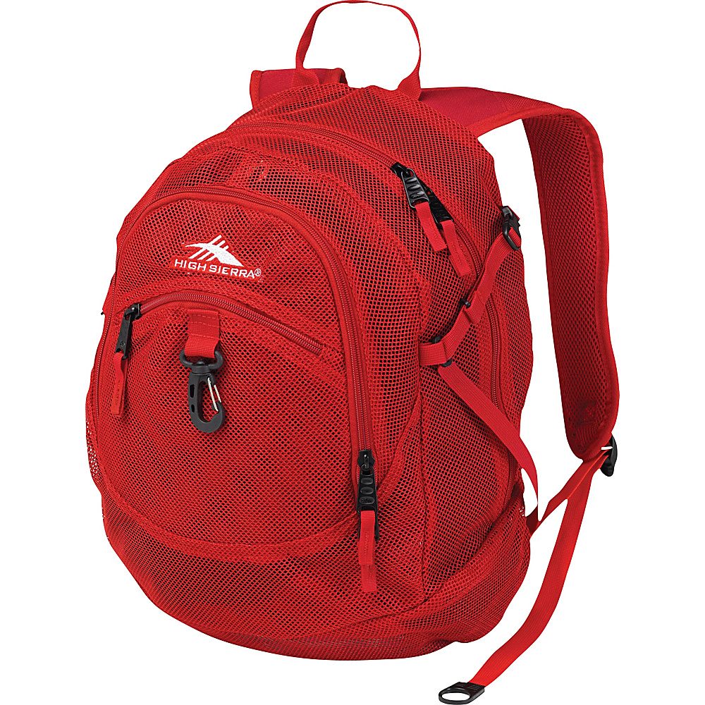 High Sierra Airhead Mesh Daypack Crimson - High Sierra Everyday Backpacks