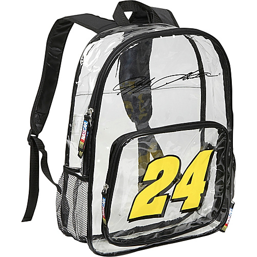 Nascar Jeff Gordon Clear Backpack - Clear