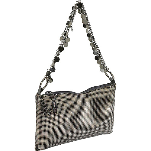 Whiting and Davis Metal Disc Chain Soft Shoulder Bag - - Shoulder Bag