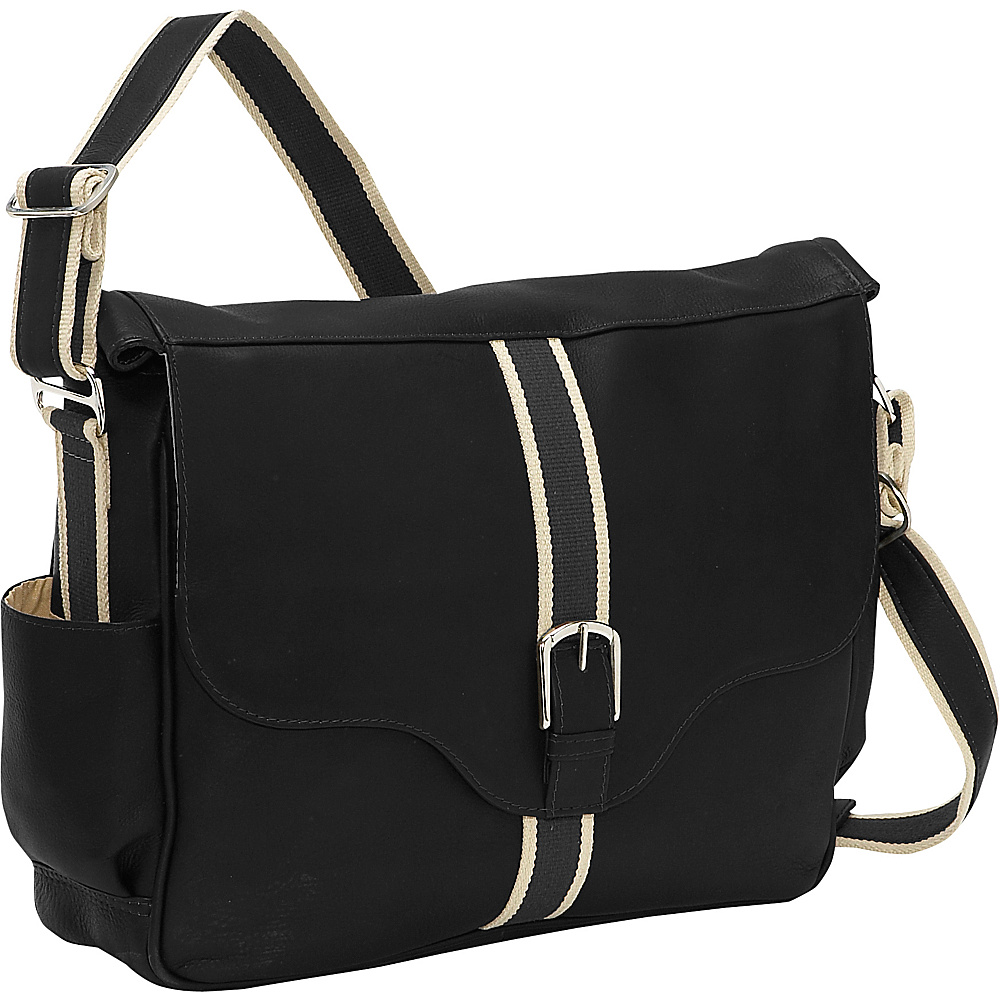 Piel European Laptop Messenger - Black - Work Bags & Briefcases, Messenger Bags