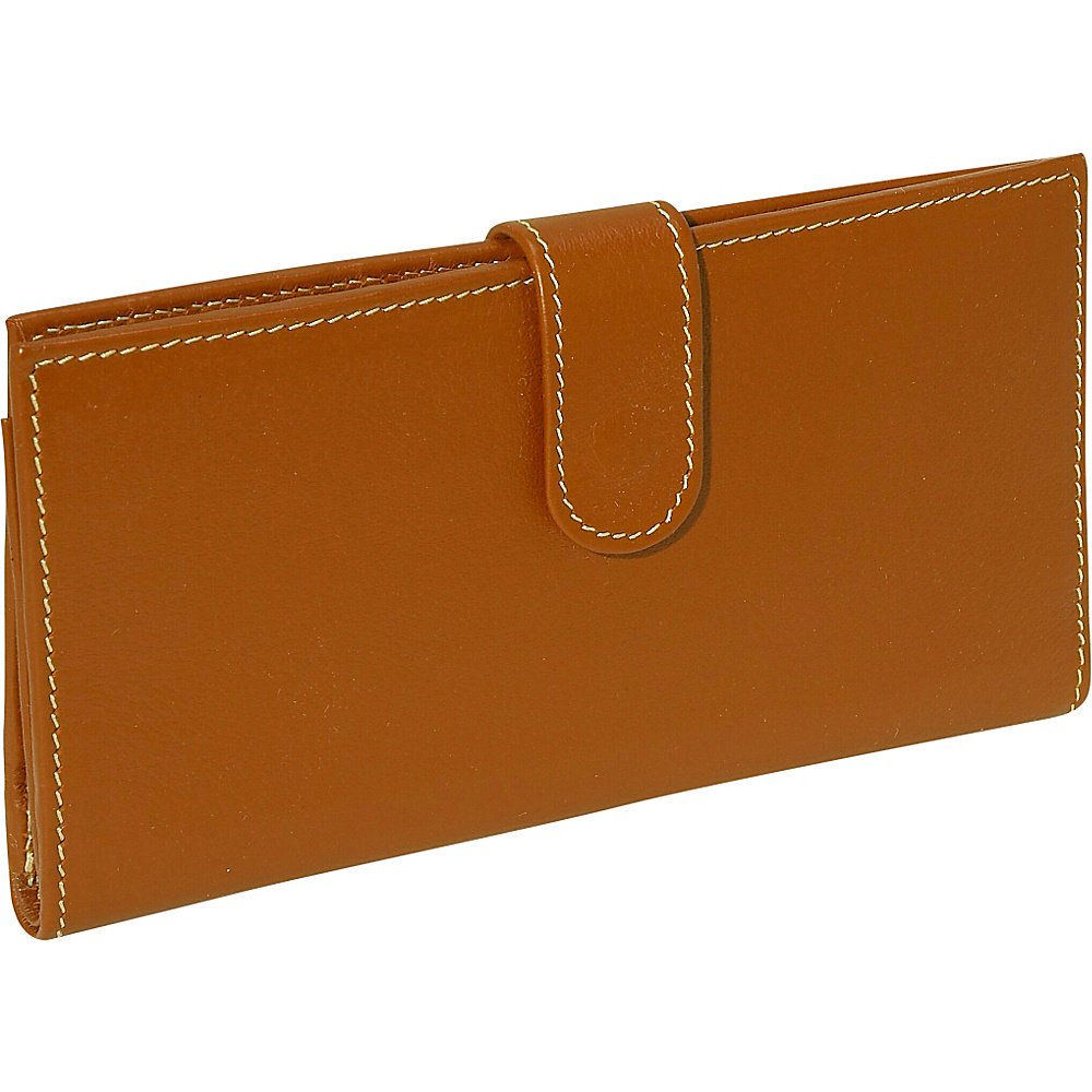 Piel Multi Card Wallet Saddle