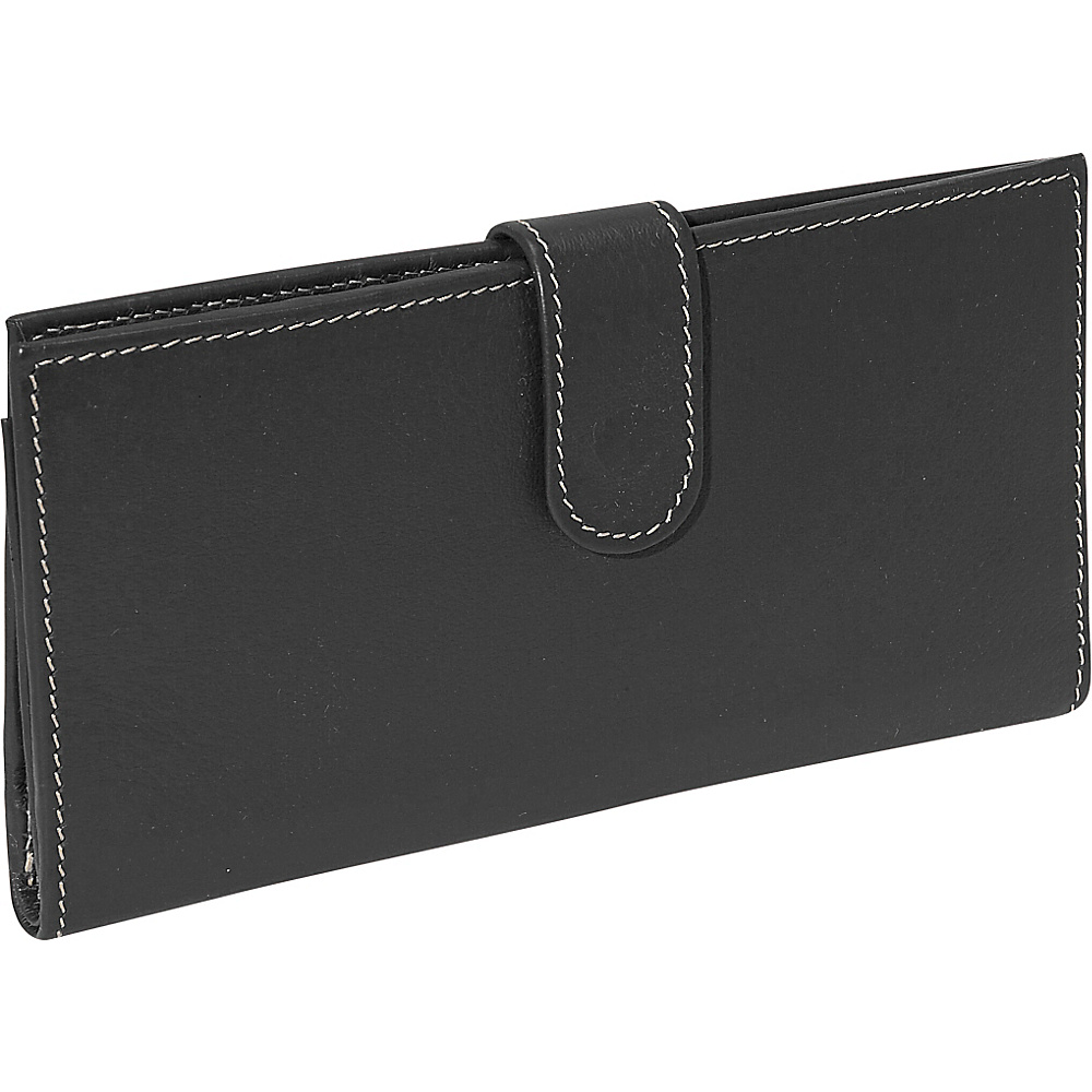 Piel Multi Card Wallet Black