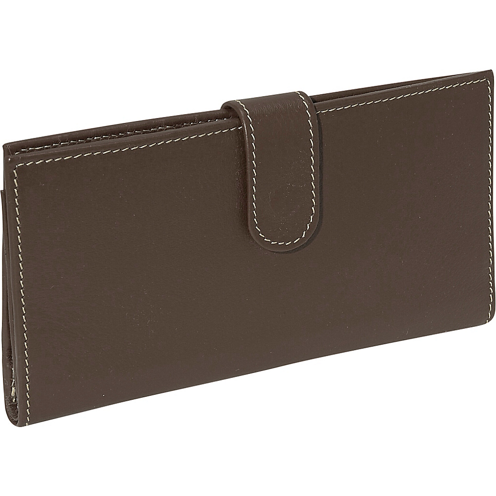 Piel Multi Card Wallet Chocolate