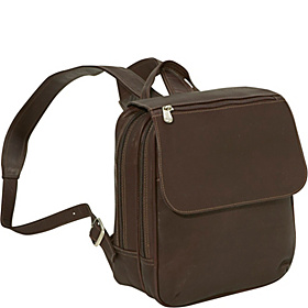 Flap-Over Mini Backpack Chocolate