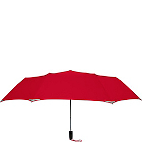 WalkSafe® Auto Open Jumbo Umbrella - Solid Colors Red