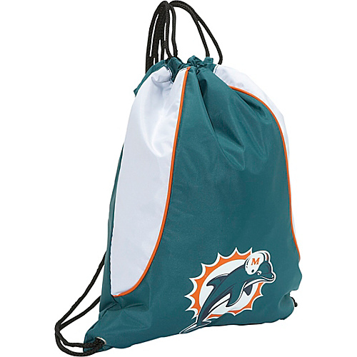 Concept One Miami Dolphins String Bag Miami Dolphins Aqua - Concept One Gym Bags