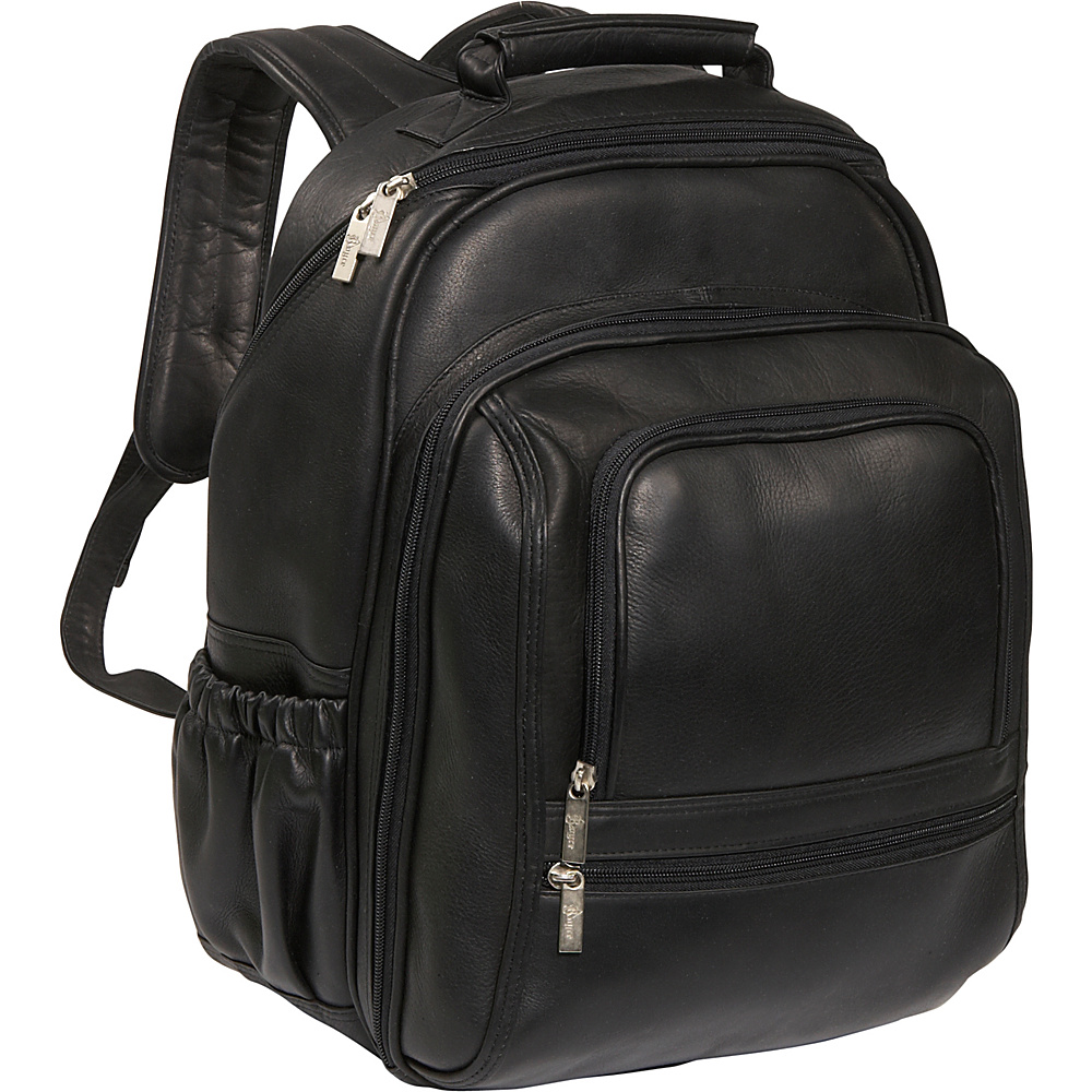 Royce Leather Deluxe Laptop Backpack Black