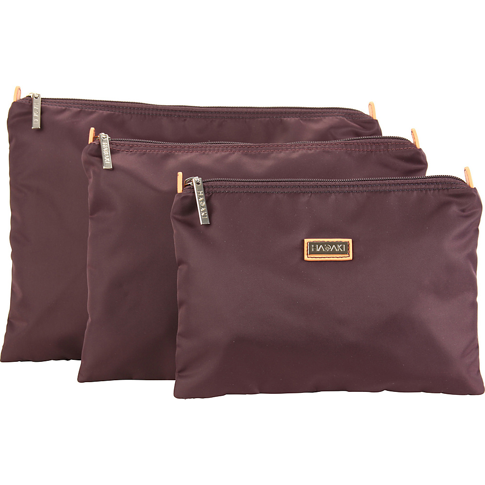 Hadaki Small Zippered Carry All Plum Perfect Solid - Hadaki Womens SLG Other - Women's SLG, Women's SLG Other