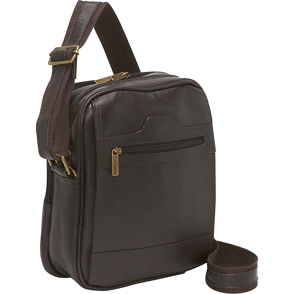 Le Donne Leather Mens Day Bag - Caf - Work Bags & Briefcases, Other Men's Bags