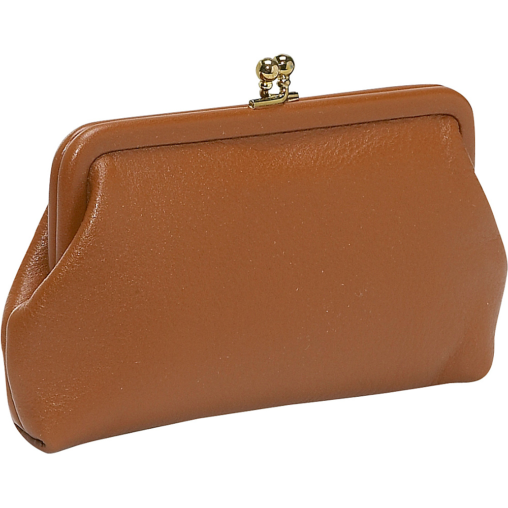 Budd Leather 5 Coin Purse With Credit Card Slits Tan
