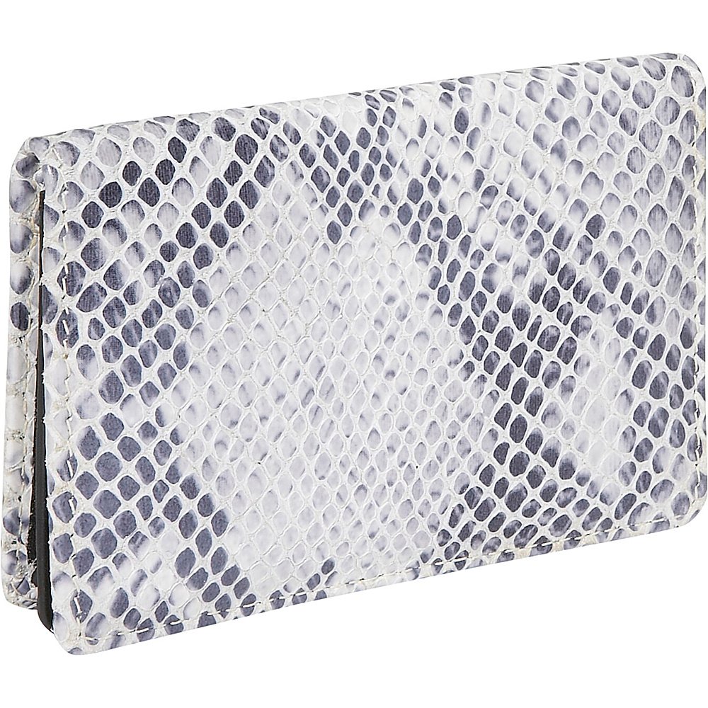 Leatherbay Italian Leather Flip Top Wallet - Snake - Work Bags & Briefcases, Business Accessories