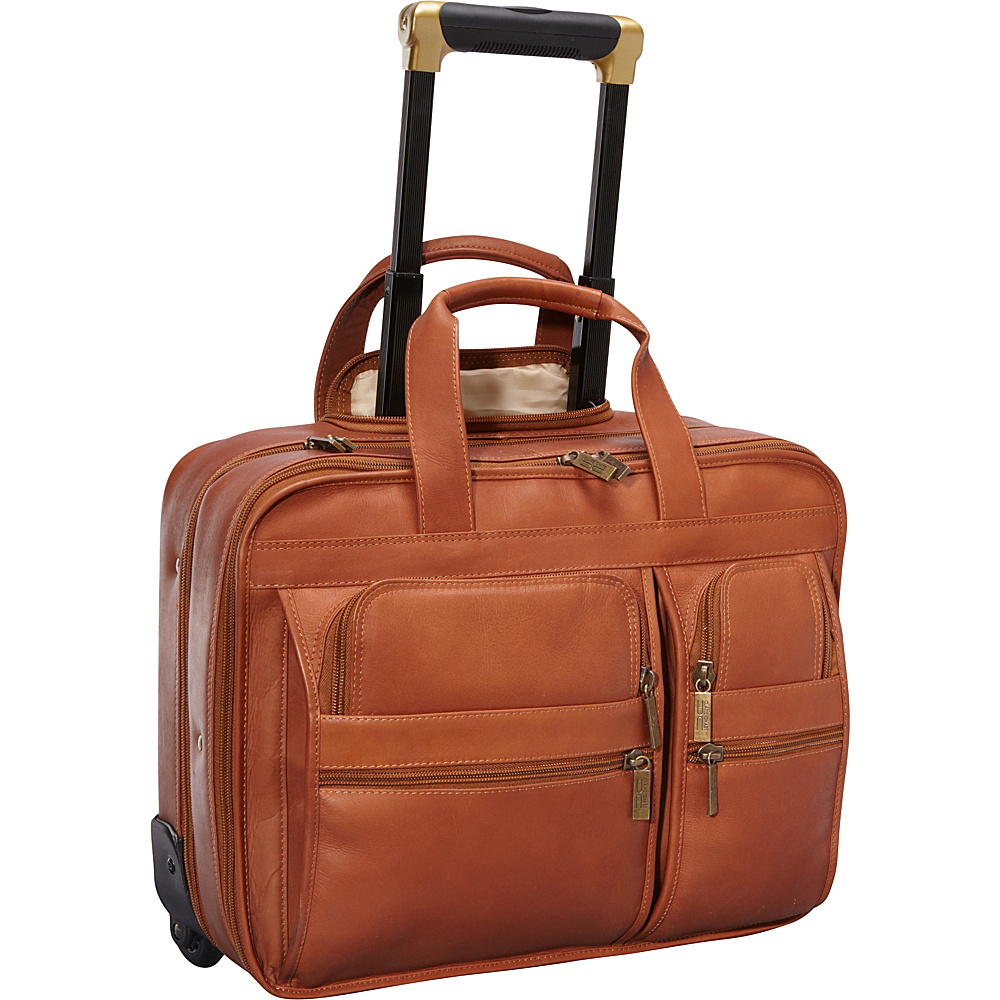 ClaireChase Rolling Computer Brief Saddle - ClaireChase Wheeled Business Cases - Work Bags & Briefcases, Wheeled Business Cases