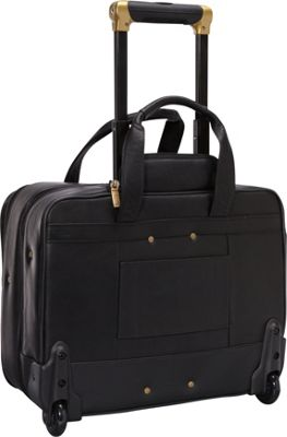 4 Wheeled Deluxe Leather Brief With Laptop Case Alpha 2 ...