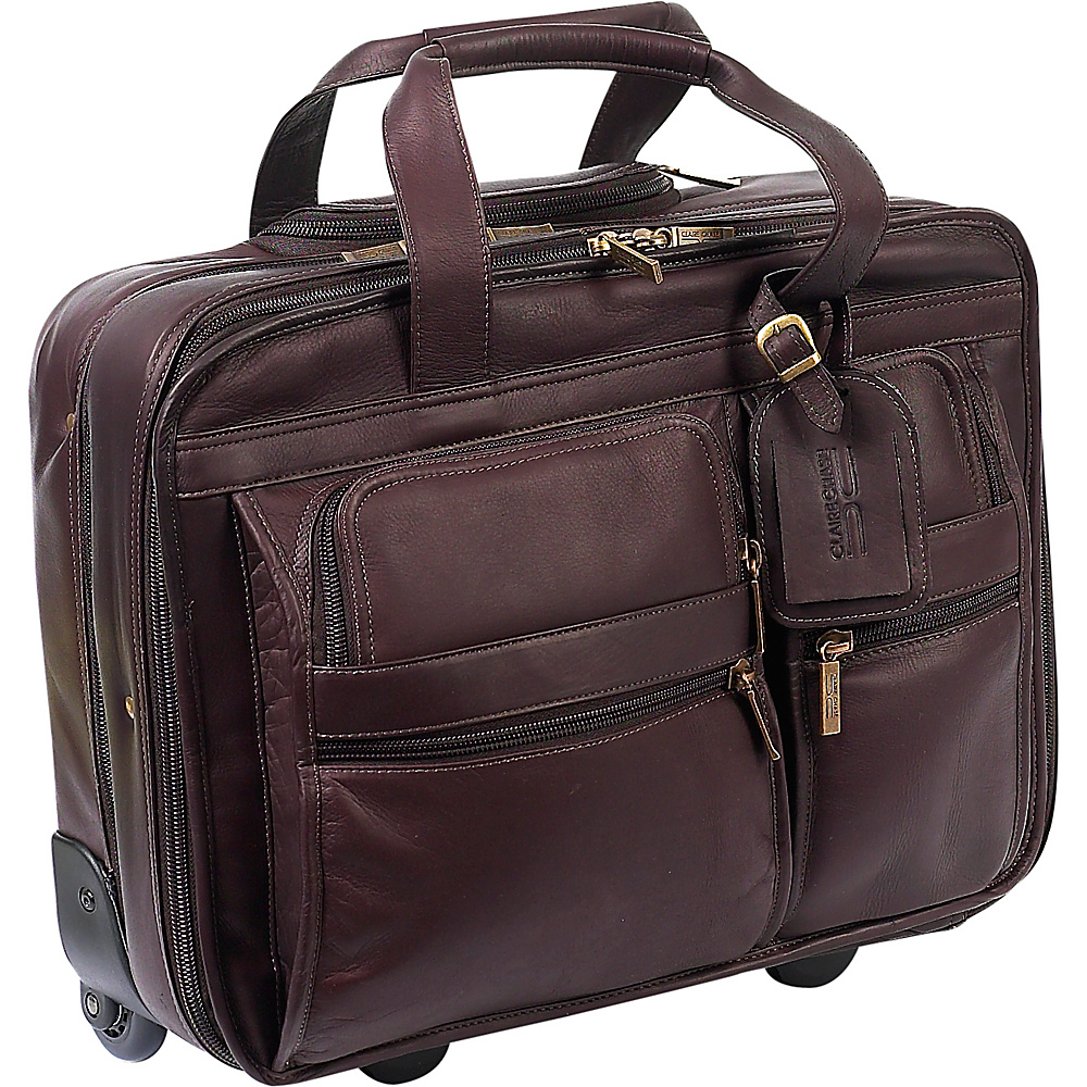 ClaireChase Rolling Computer Brief - Cafe - Work Bags & Briefcases, Wheeled Business Cases