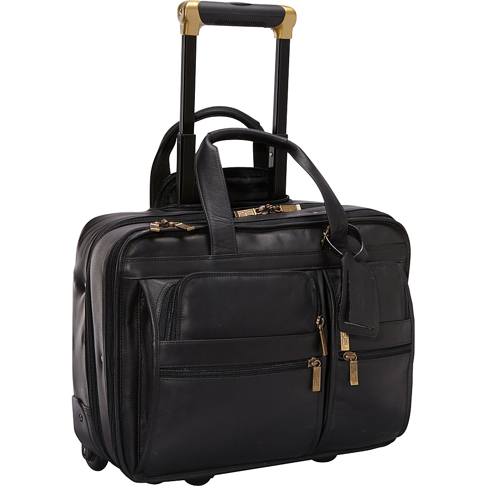 ClaireChase Rolling Computer Brief - Black - Work Bags & Briefcases, Wheeled Business Cases