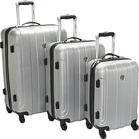 Cambridge 3 Piece Hardshell Spinner Set Silver Grey