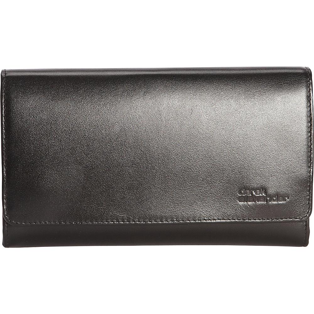 Derek Alexander Large Multi Comp Clutch Black - Derek Alexander Designer Handbags - Handbags, Designer Handbags