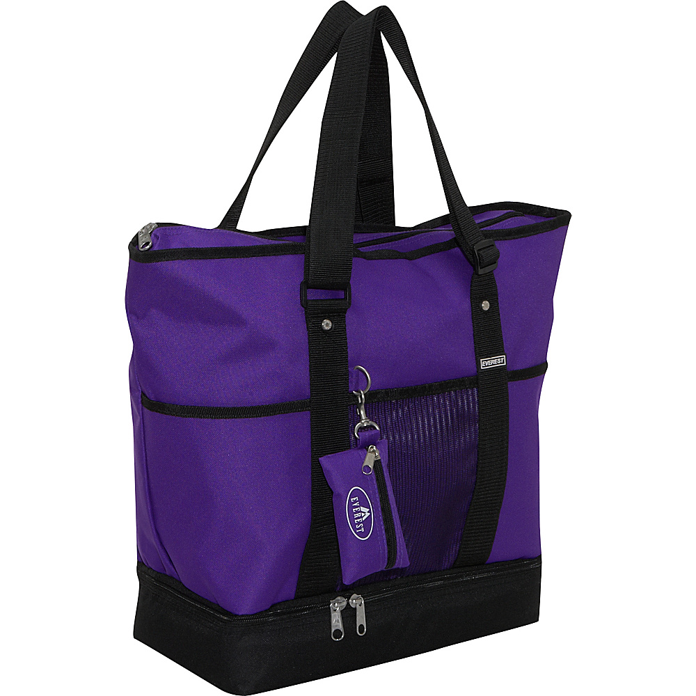 Everest Deluxe Sporting Tote - Dark Purple - Handbags, Fabric Handbags