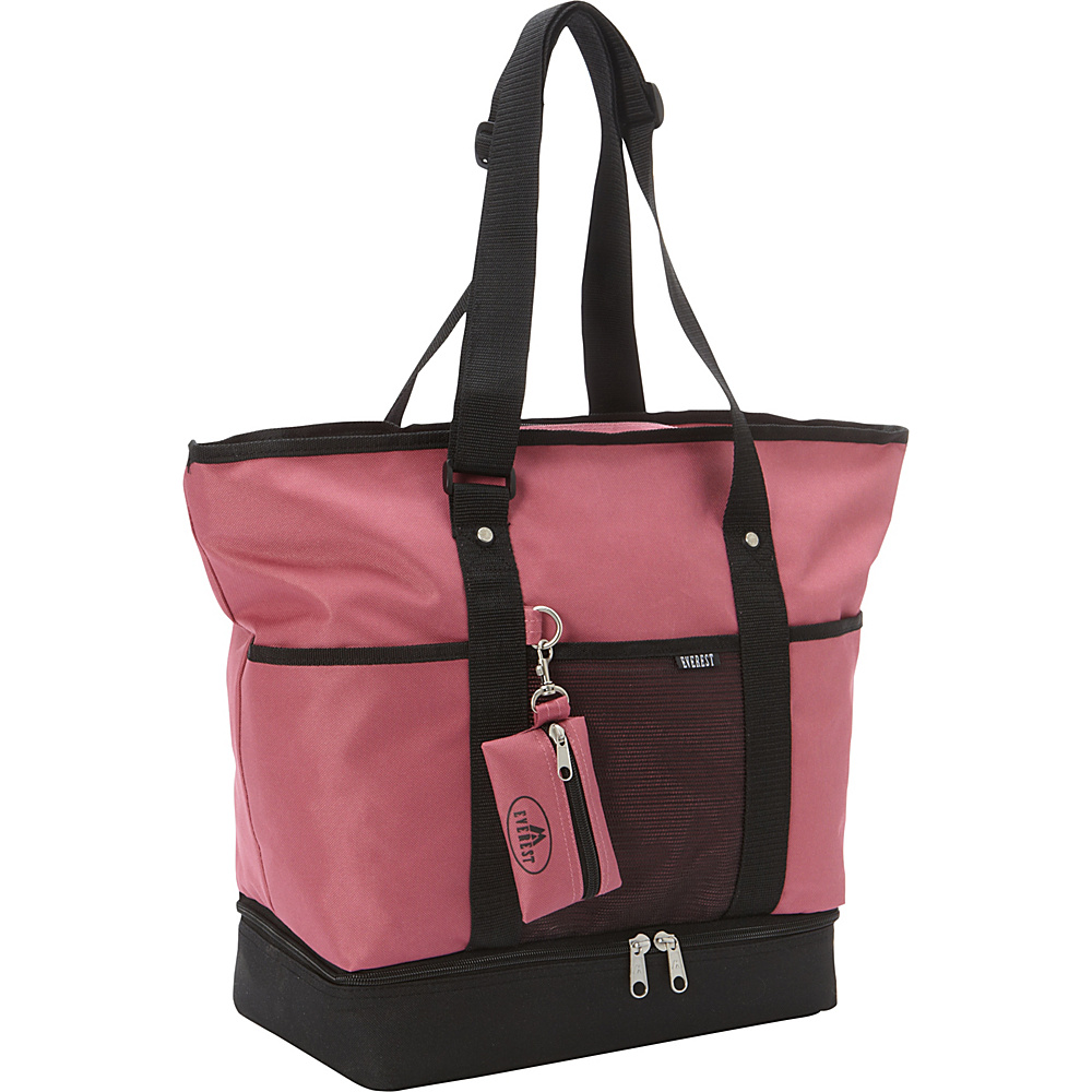 Everest Deluxe Sporting Tote Marsala/Black - Everest Fabric Handbags - Handbags, Fabric Handbags