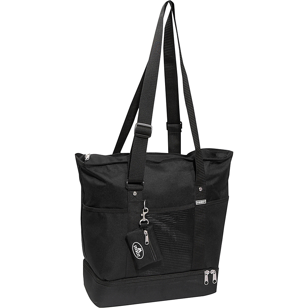 Everest Deluxe Sporting Tote - Black - Handbags, Fabric Handbags