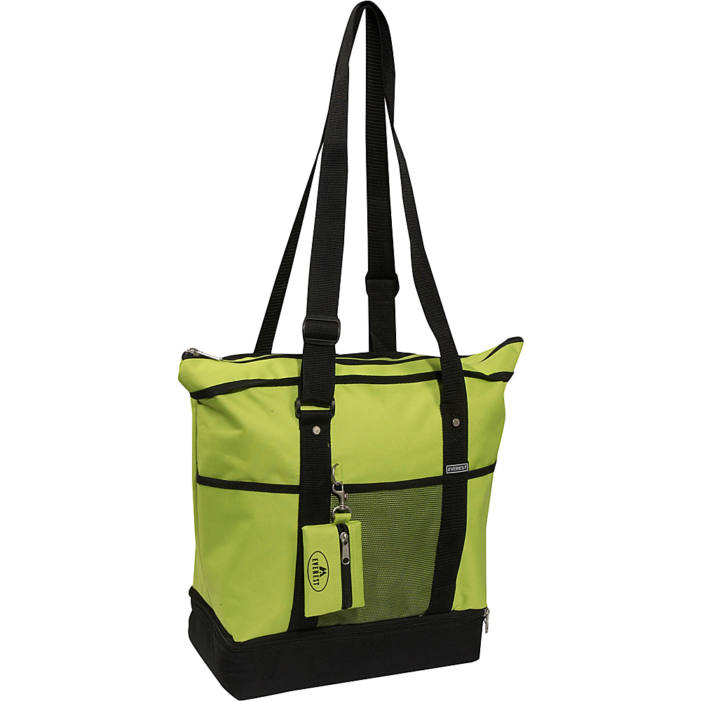 Everest Deluxe Sporting Tote - Lime/Black - Handbags, Fabric Handbags