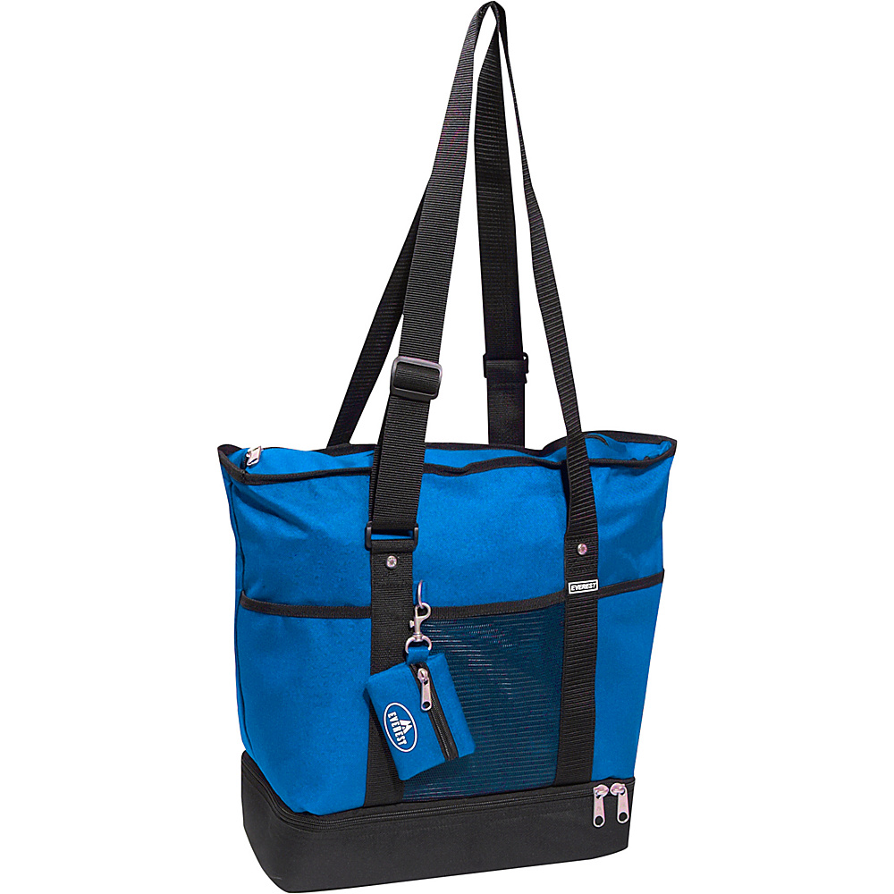 Everest Deluxe Sporting Tote - Royal Blue/Black - Handbags, Fabric Handbags