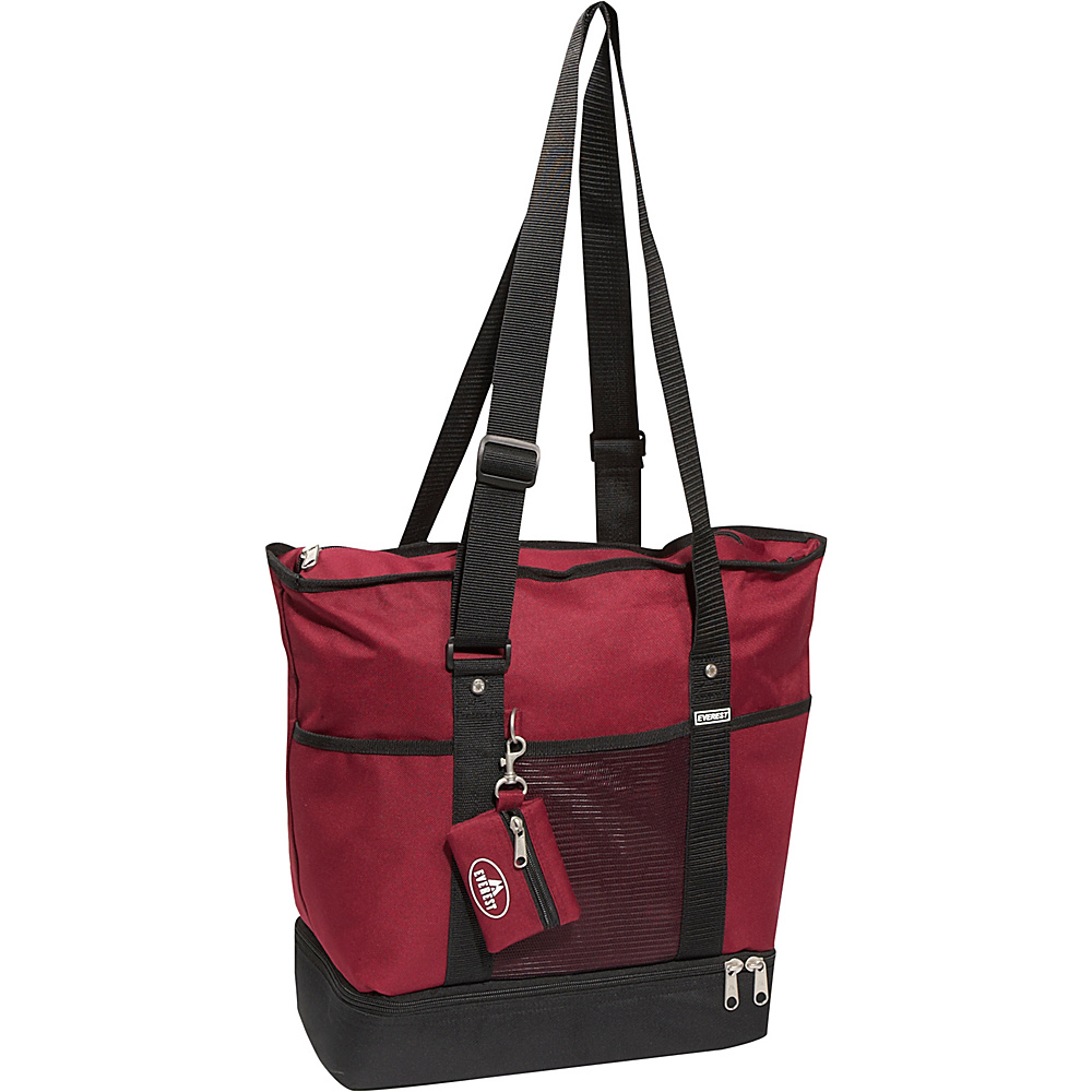 Everest Deluxe Sporting Tote - Burgundy/Black