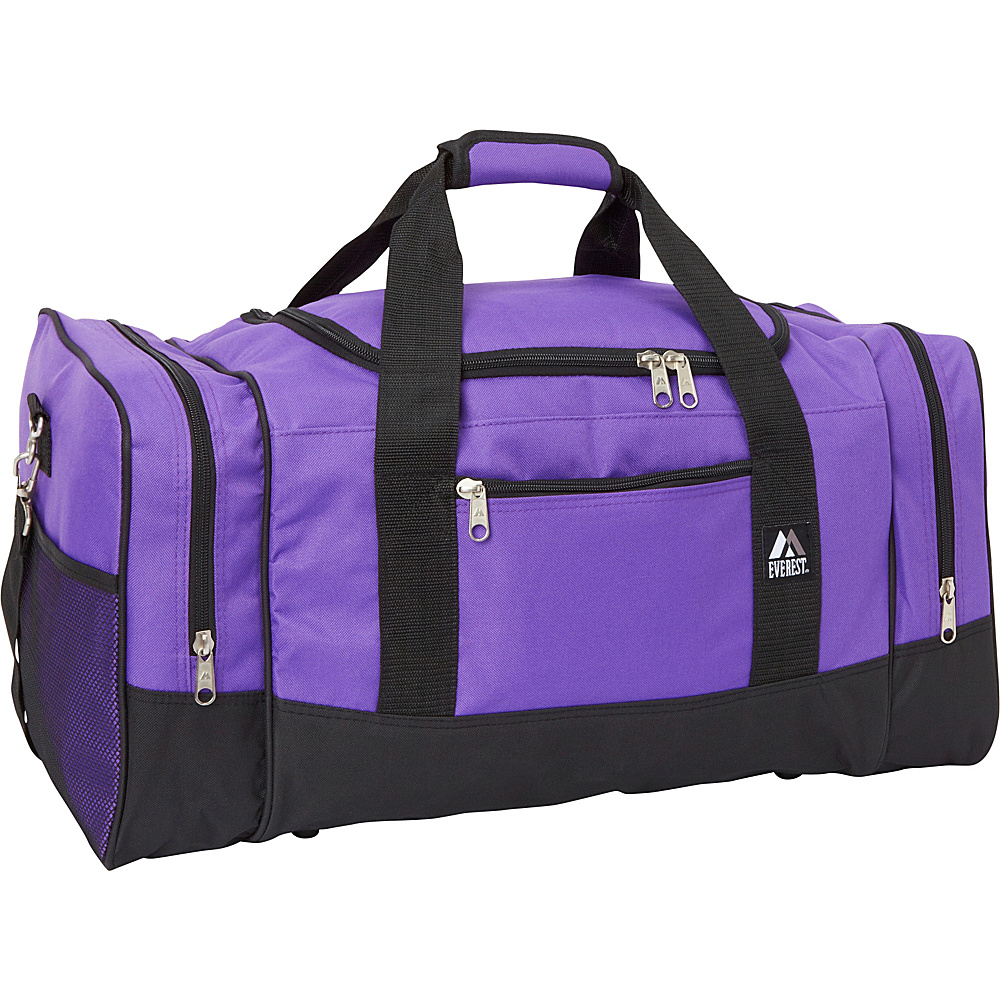 Everest 25 Sporty Gear Bag Dark Purple / Black - Everest Travel Duffels - Duffels, Travel Duffels