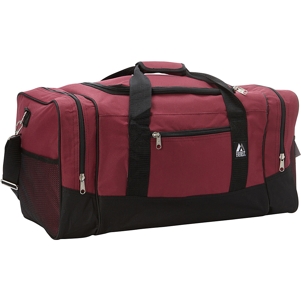 Everest 25 Sporty Gear Bag Burgundy/Black - Everest Travel Duffels - Duffels, Travel Duffels