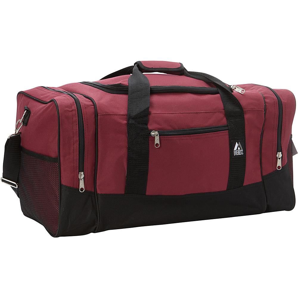 Everest 25 Sporty Gear Bag Burgundy/Black - Everest Travel Duffels - Duffels, Travel Duffels