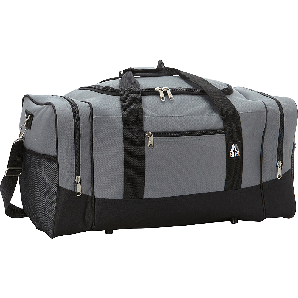 Everest 25 Sporty Gear Bag Gray/Black - Everest Travel Duffels - Duffels, Travel Duffels