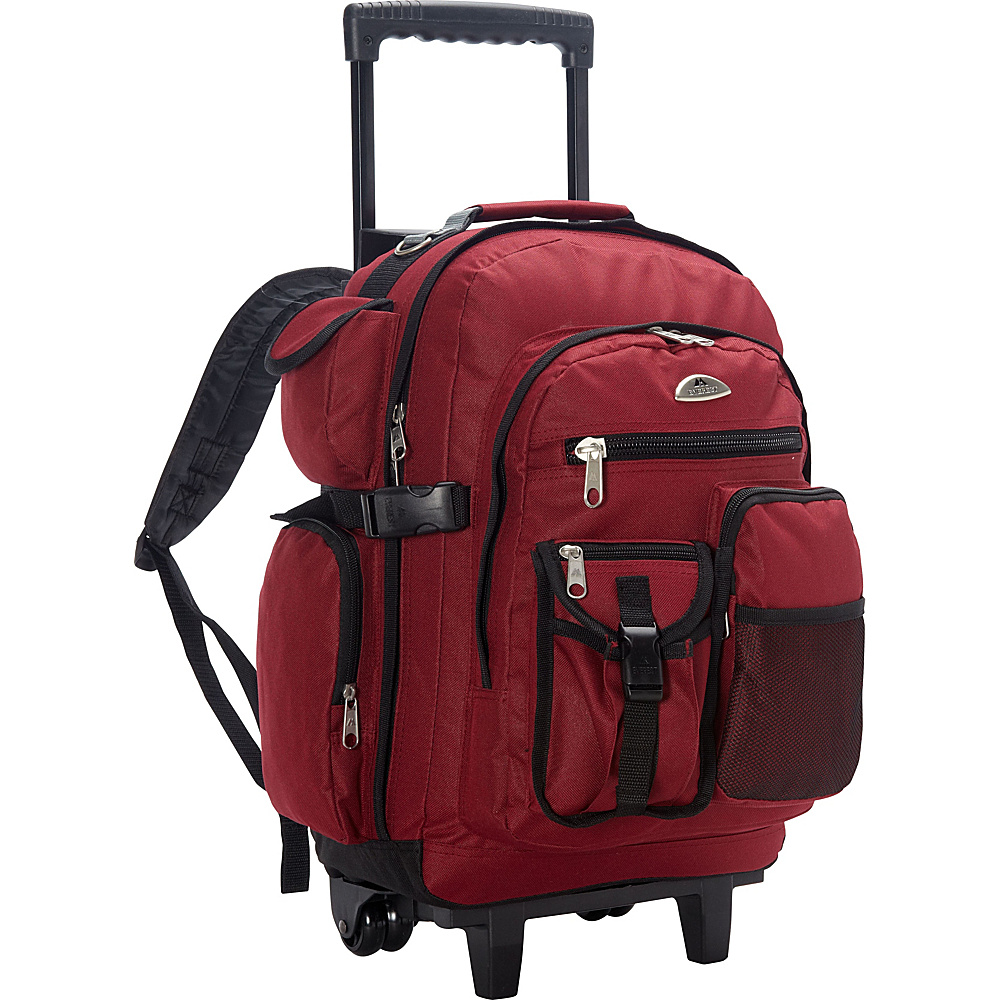 Everest Deluxe Wheeled Backpack Burgundy - Everest Rolling Backpacks - Backpacks, Rolling Backpacks