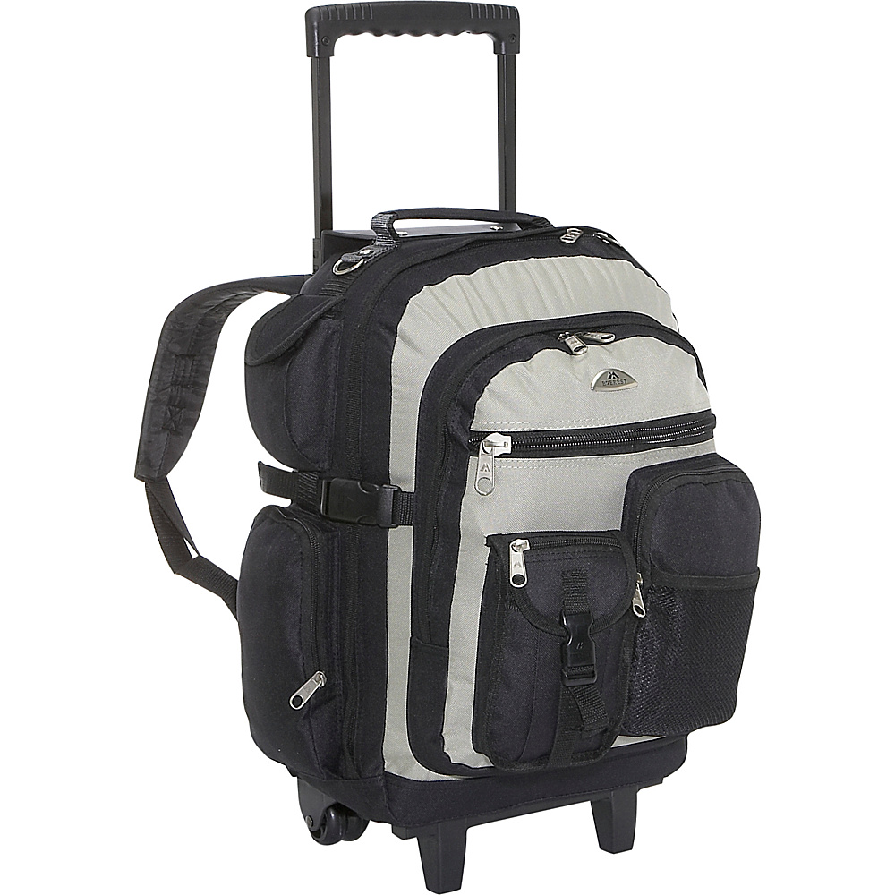 Everest Deluxe Wheeled Backpack - Khaki/Black - Backpacks, Rolling Backpacks