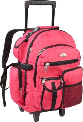 Everest Deluxe Wheeled Backpack Hot Pink - Everest Rolling Backpacks