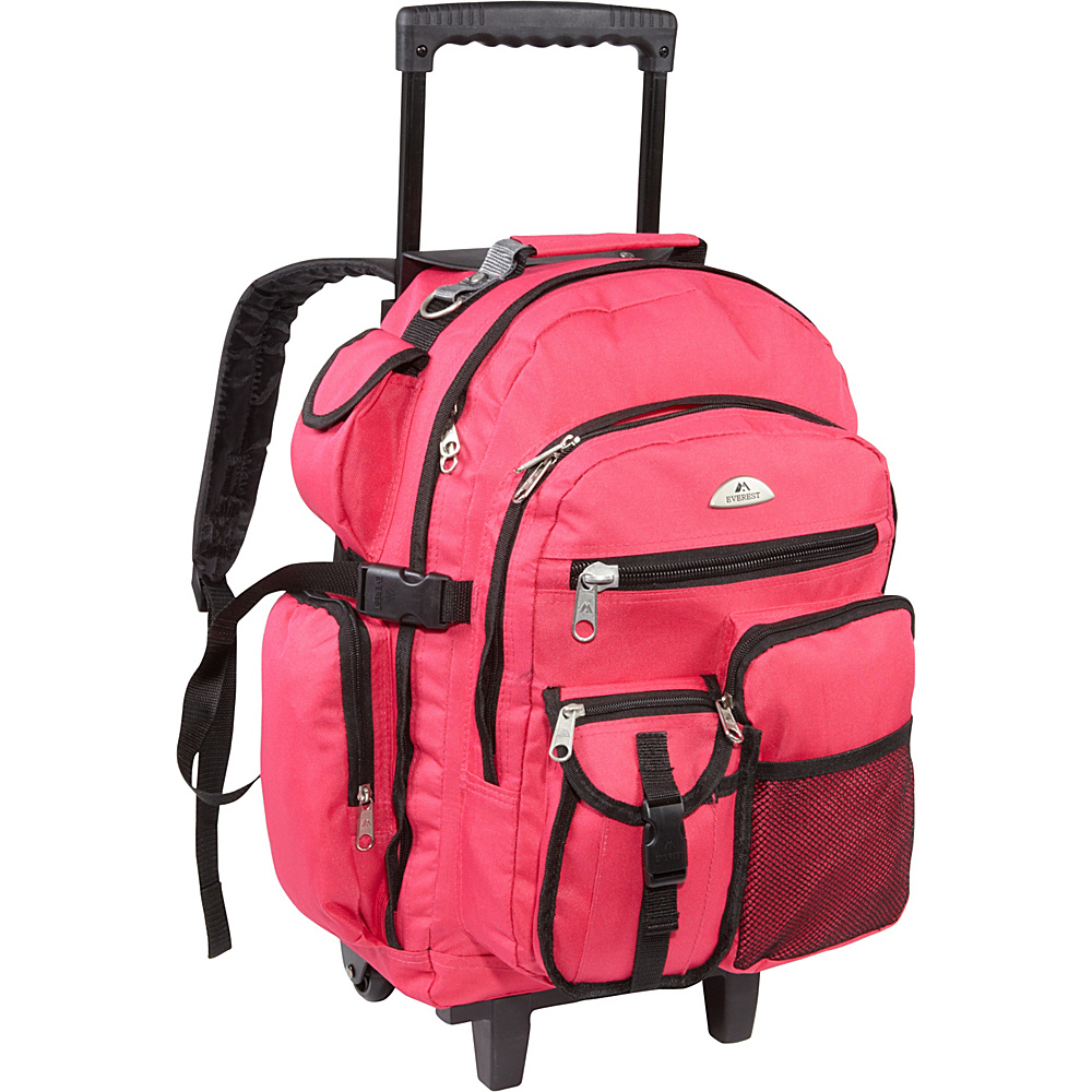 Everest Deluxe Wheeled Backpack Hot Pink - Everest Rolling Backpacks - Backpacks, Rolling Backpacks