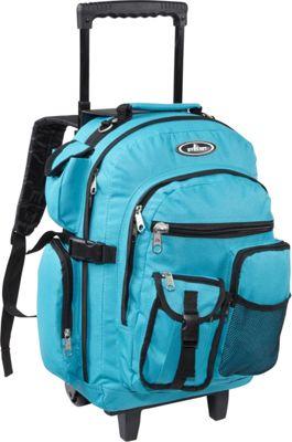 Everest Deluxe Wheeled Backpack Turquoise - Everest Rolling Backpacks