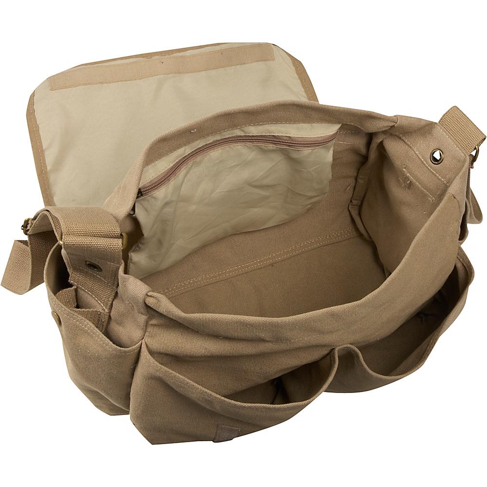 Everest Large Cotton Canvas Messenger Bag - Olive